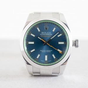 Đồng hồ Rolex Milgauss 116400LV Mặt số xanh