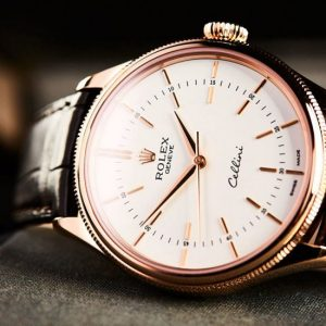 Đồng hồ Rolex Cellini Time Everose 50505-0020 Mặt số trắng