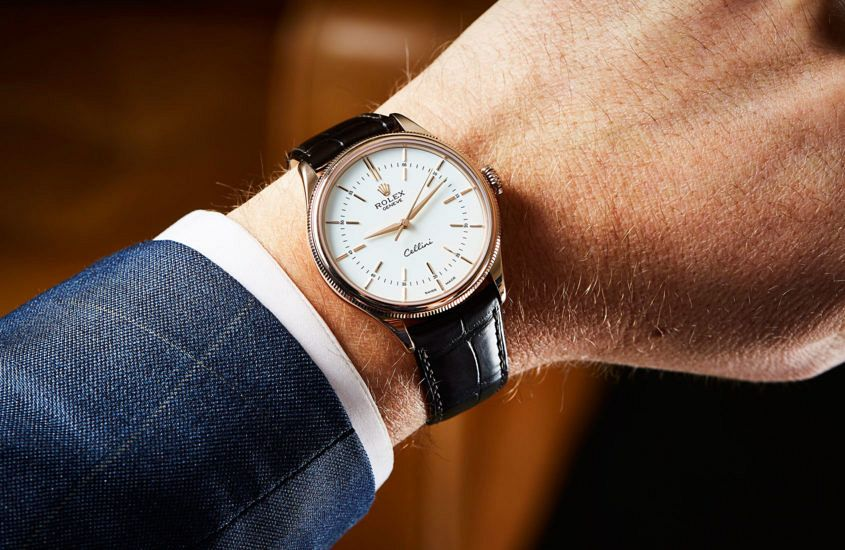 Đồng hồ Rolex Cellini Time ref. 50505-0020 mặt số trấng