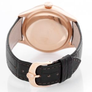 Đồng hồ Rolex Cellini Dual Time 50525 Mặt số chocolate