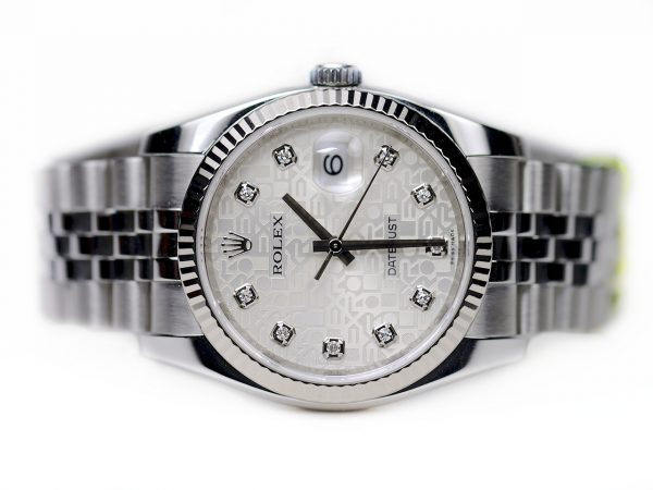Đồng hồ Rolex Datejust 116234 mặt số vi tính trắng