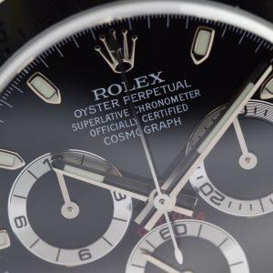 Đồng hồ Rolex Daytona 116520 phiên bản thép với mặt số màu đen