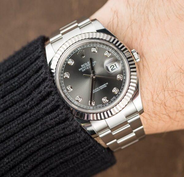 Đồng hồ Rolex Datejus 116334 mặt số Rhodium